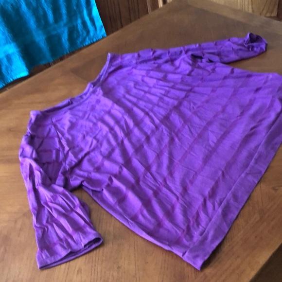Old navy xxl purple 3/4 mesh striped top